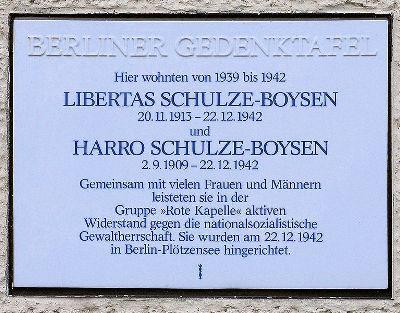 Plaque Libertas and Harro Schulze-Boysen
