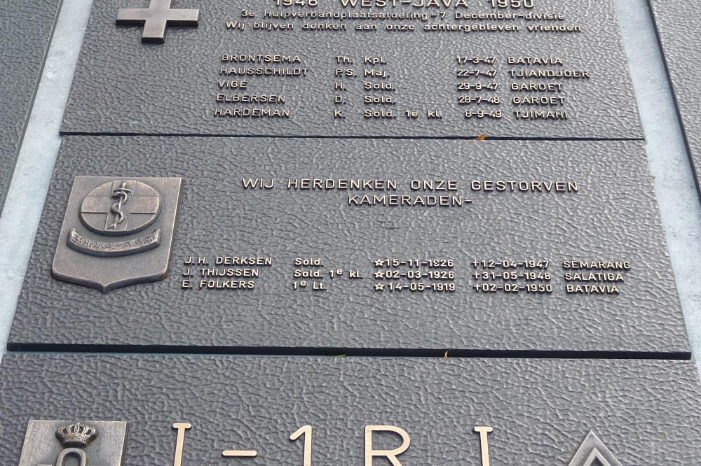 Plaquette 31e Hulpverbandplaatsafdeling Aan- en Afvoertroepen
