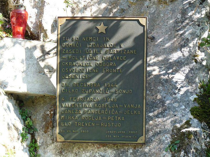 Memorial Killed Partisans Planina pod Golico