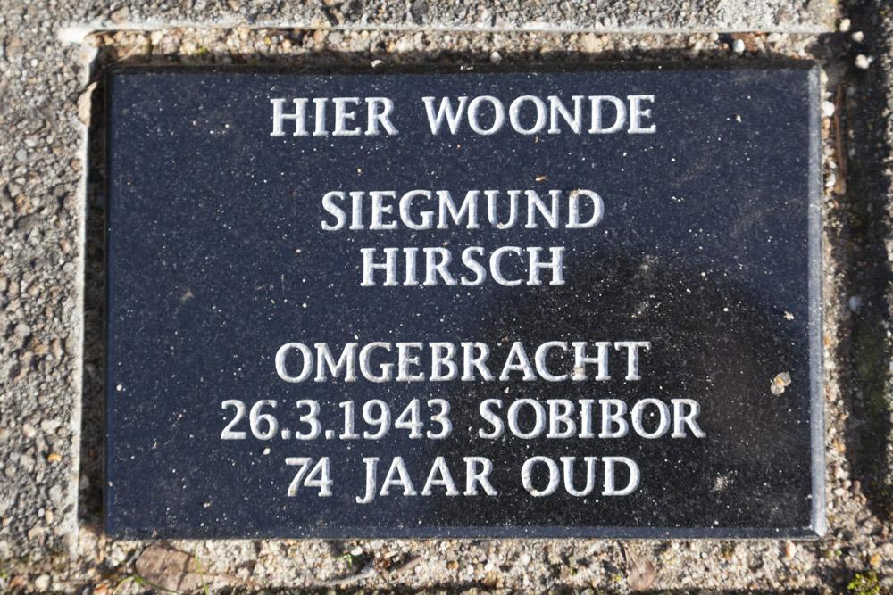 Memorial Stone Prinsesselaan 12