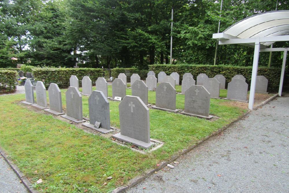 Oudstrijders Perken Begraafplaats Branst