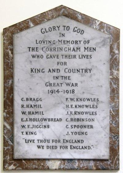 Oorlogsmonument St. Mary Church Corringham