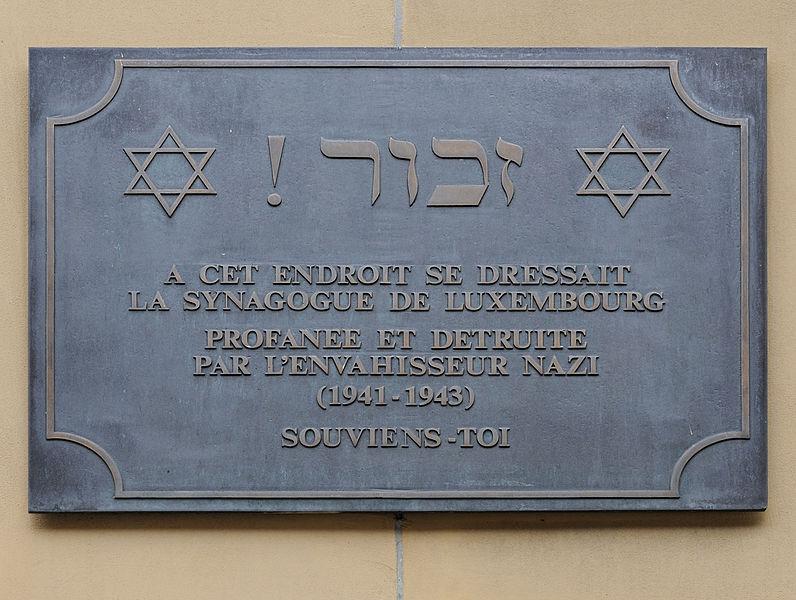 Plaquette Synagoge