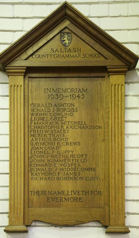 Oorlogsmonument Saltash County Grammar School