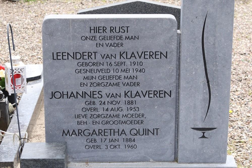 Dutch War Grave Municipal Cemetery Zaandam