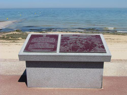 'Battle Map' Juno Beach Bernières-sur-Mer