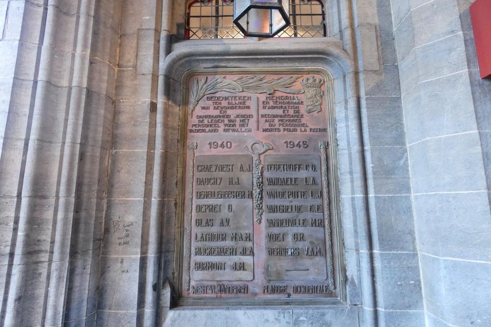 Monument Postal Service Bruges