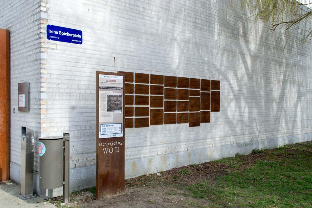 Info board 75 Years Liberation WWII Mechelen