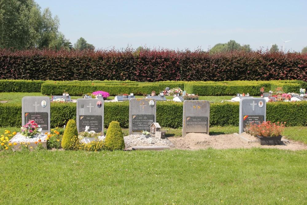 Graven Oudstrijders Begraafplaats Zaffelare