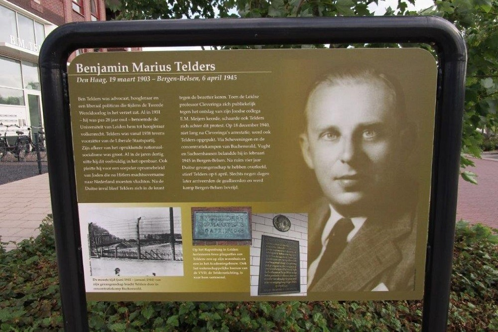 Information Panel Resistance Fighter Benjamin Marius Telders
