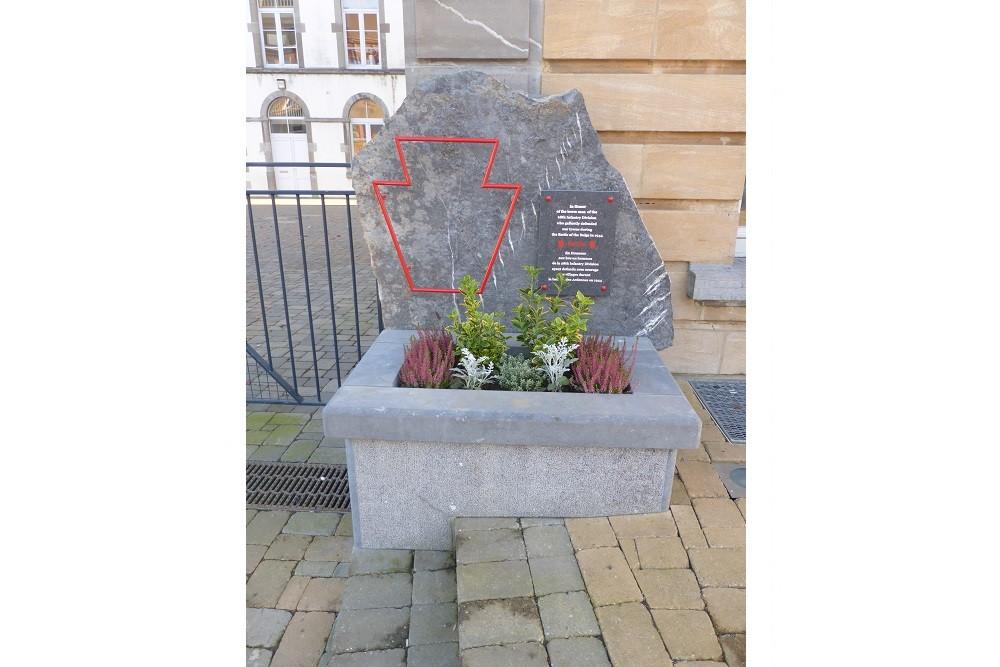 Commemorative Stone 28th Infantry Division Neufchâteau