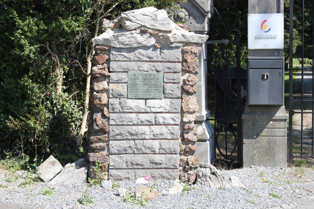 Remembrance Memorial Pachiotti en Renaville