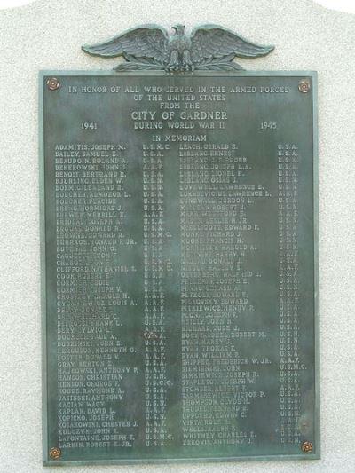 Monument Tweede Wereldoorlog Gardner
