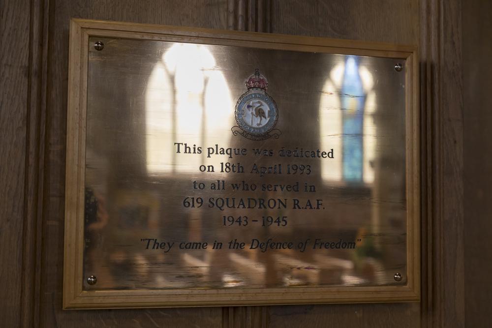 Plaque 619 Squadron RAF