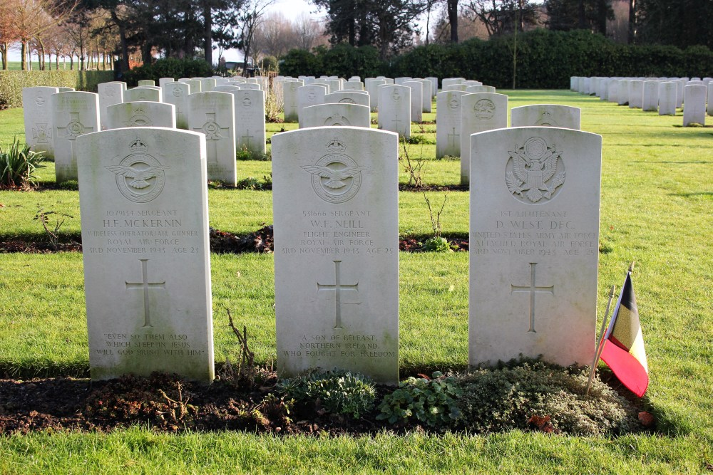 American War Grave Commonwealth War Cemetery Heverlee