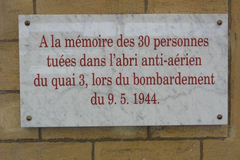 Plaque Air-Raid 9 May 1944