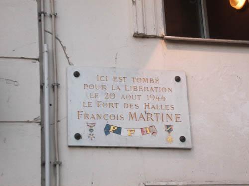 Plaque Francois Martine