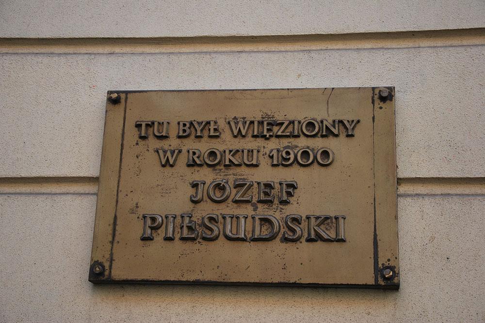 Plaquette Gevangenschap Jozef Pilsudski