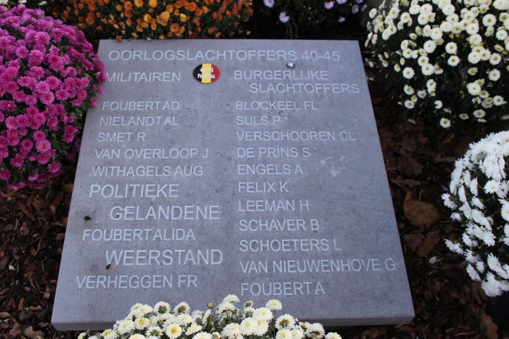 Commemorative Plates Cemetery Kruibeke