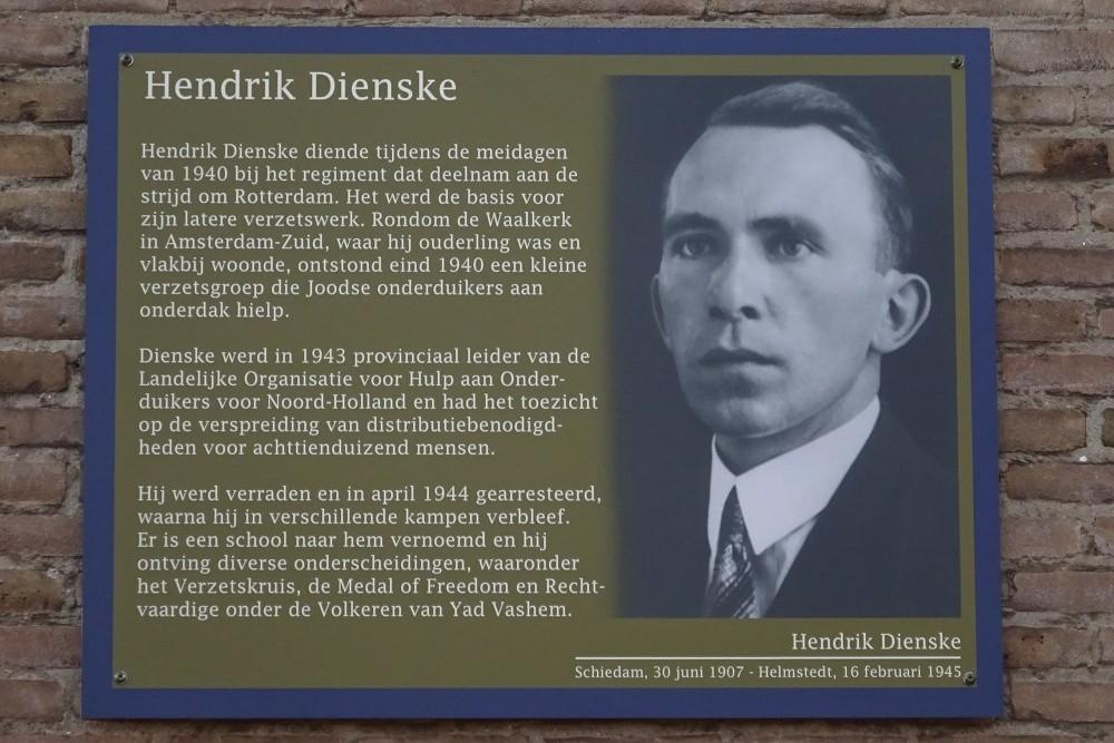 Memorial Plates Slotermeer Hendrik Dienskestraat