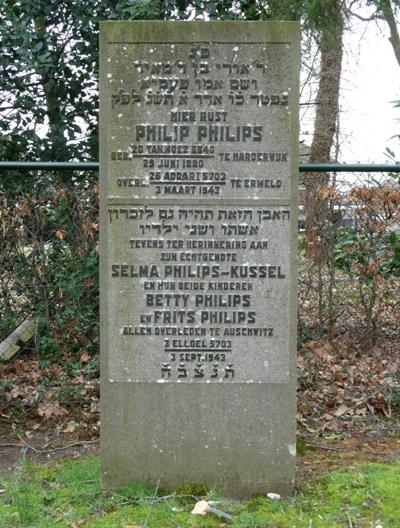 Herdenkingstekst Joodse Begraafplaats