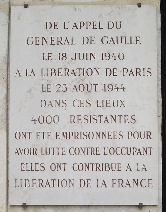 Plaquette Roquette-gevangenis