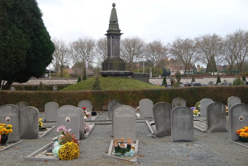 Graven Oudstrijders Nieuwe Gemeentelijke Begraafplaats Lessines