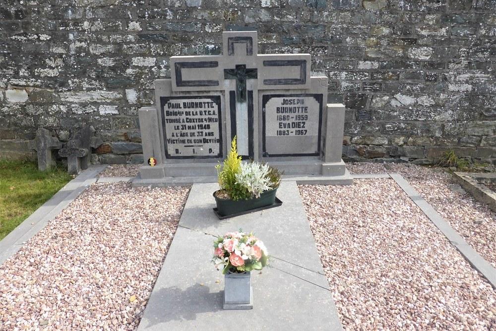 Belgian War Grave Municipal Cemetery Villance
