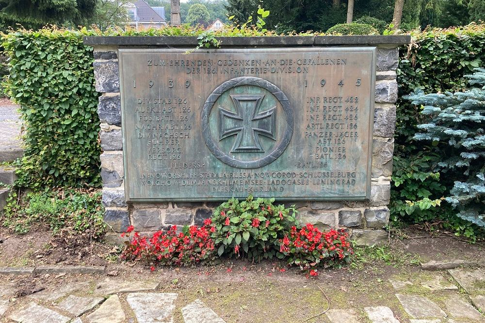 Memorial Fallen 126. Infantry Division