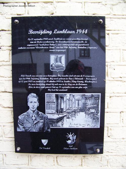 Plaquette Bevrijding Lanklaar 1944