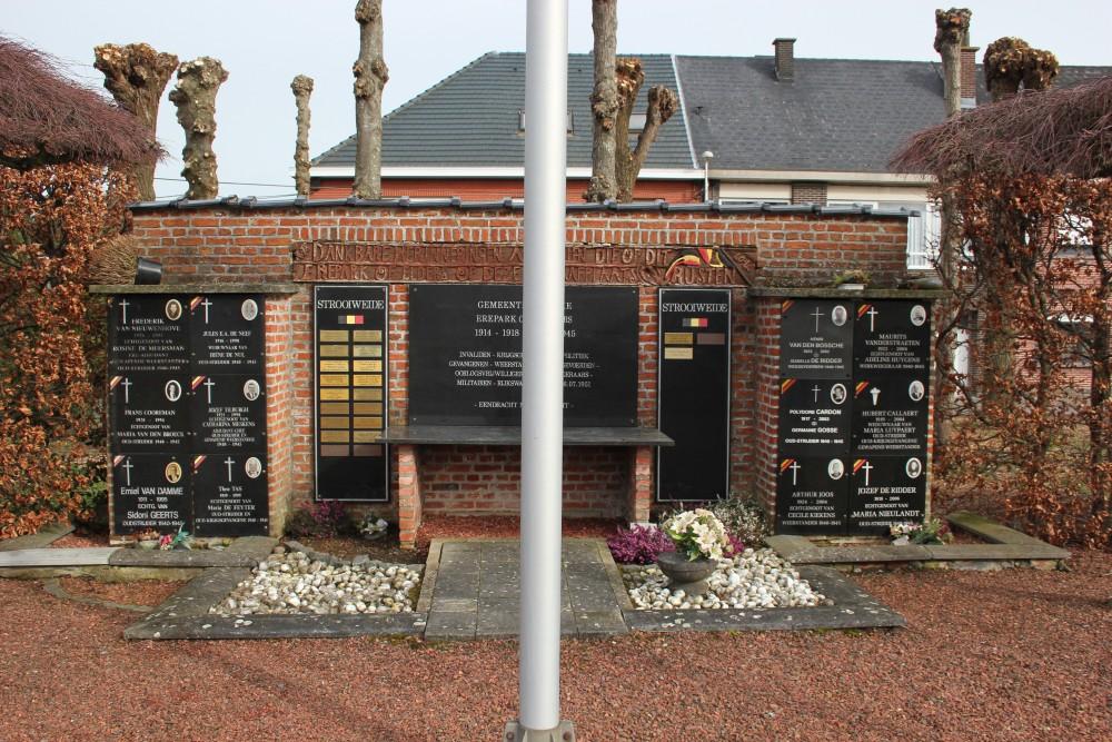 Monument Oudstrijders Begraafplaats Lebbeke