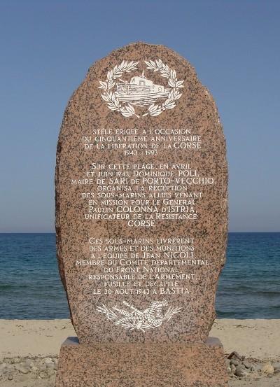 Monument Landingen Corsica