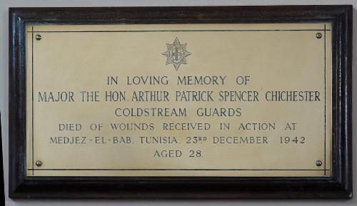 Plaquette Arthur Patrick Spence Chichester