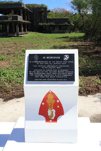 Memorial 2nd Marine Division Tinian