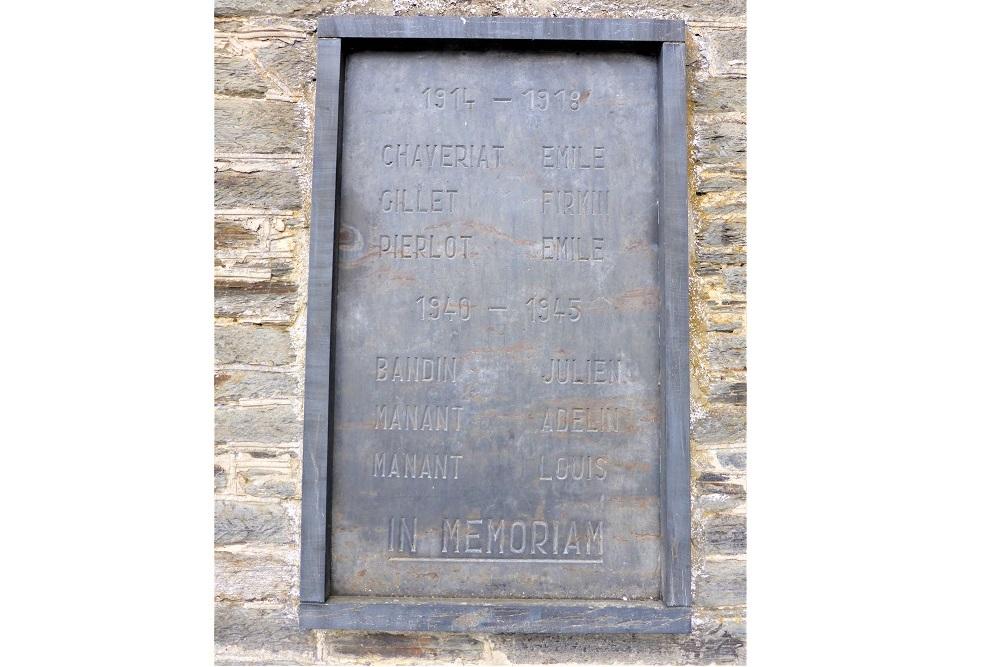 Commemorative Plaque Warmifontaine