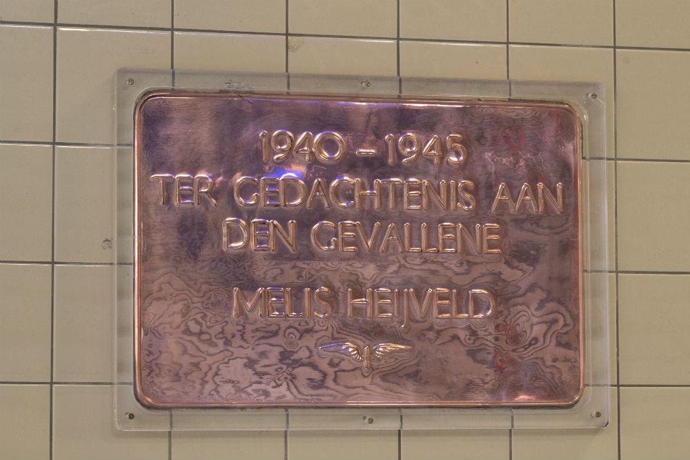 Plaque Killed NS Employee Woerden