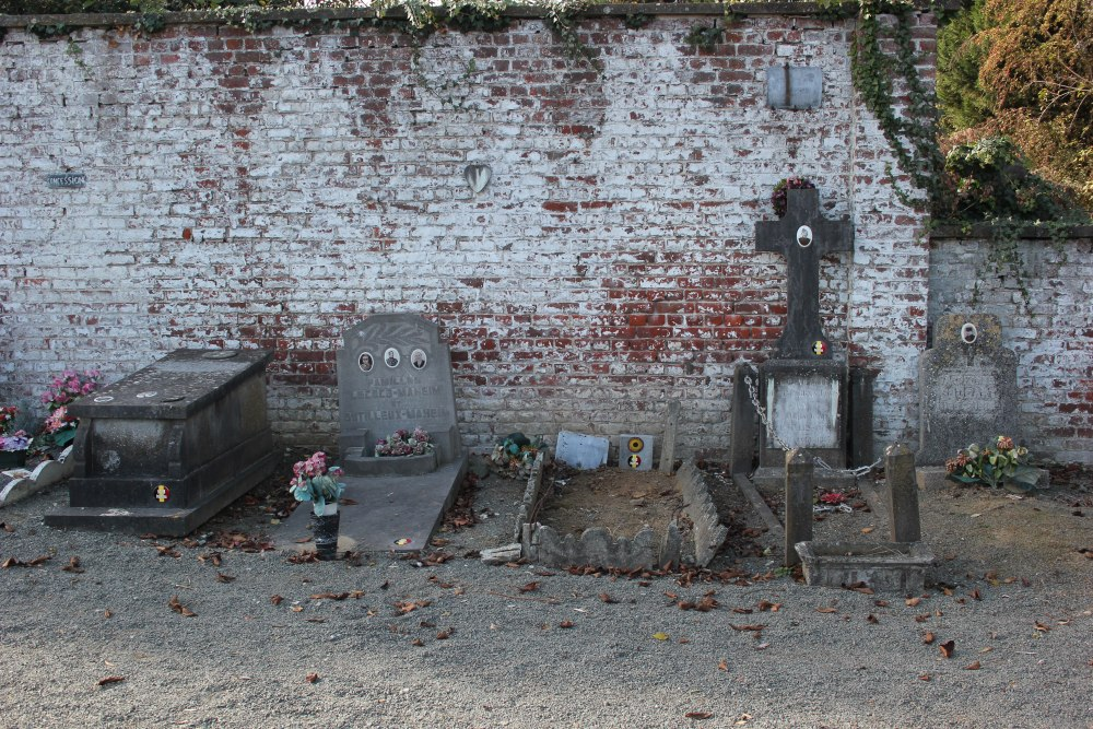 Belgian War Graves Old Communal Cemetery Lessines