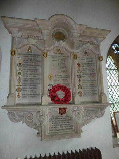 World War I Memorial Holy Trinity Church