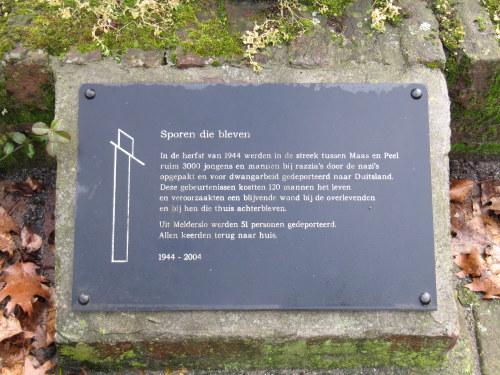 Monument 'Sporen die bleven' Melderslo