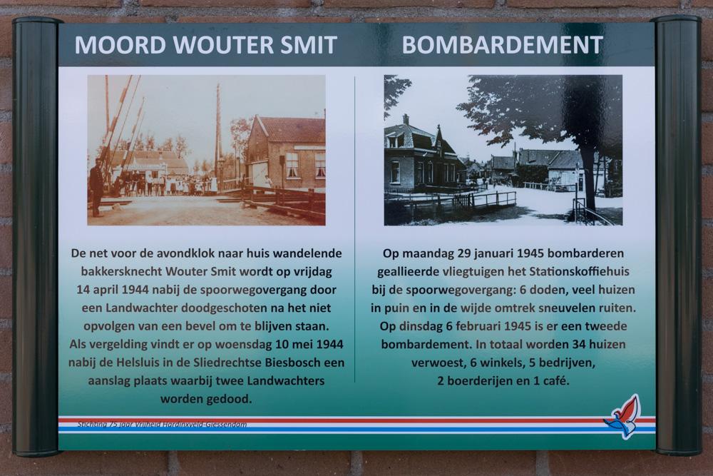 Information sign no. 1 Second World War in Hardinxveld-Giessendam