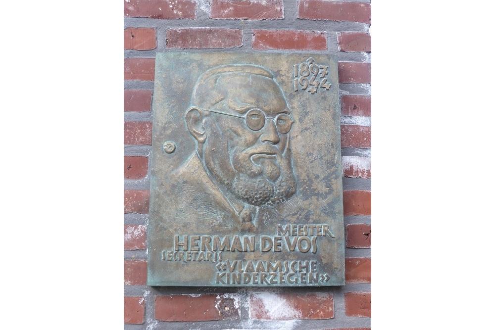 Gedenkplaat Herman De Vos