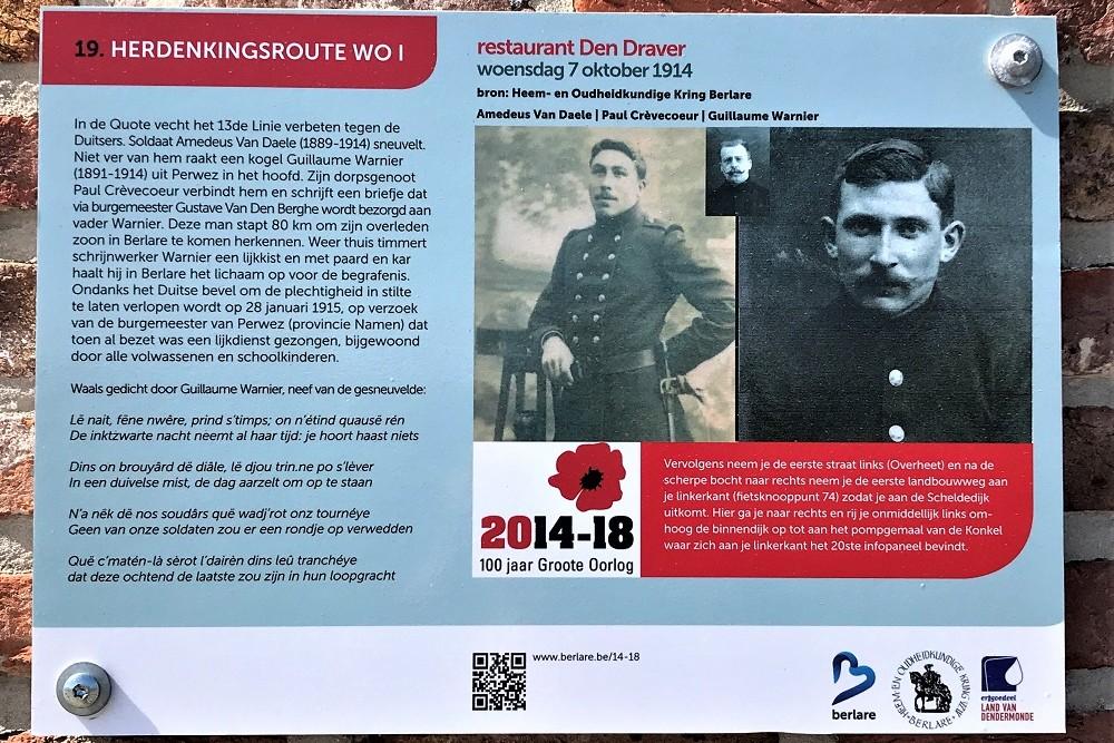 Herdenkingsroute 100 jaar Groote Oorlog - Informatiebord 19
