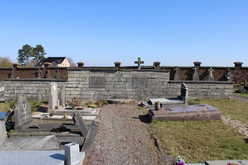 Oorlogsmonument Begraafplaats Jauchelette
