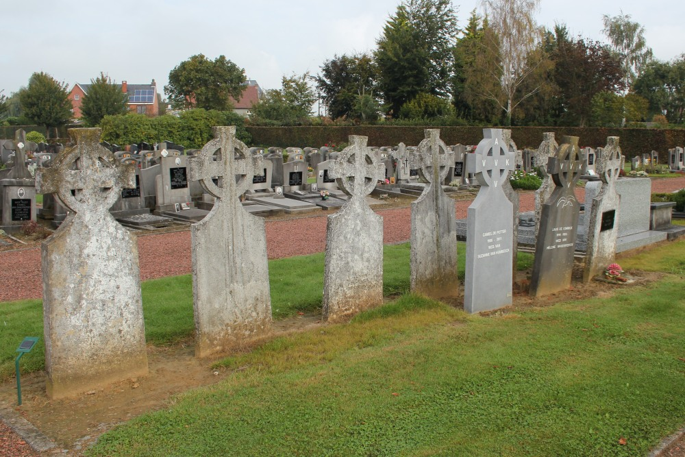 Veteran Cemetery AVV-VVK-Headstones Moorsel