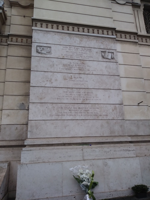 Plaquettes Grote Synagoge Rome