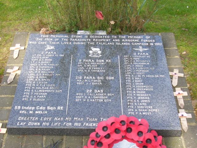 Monument Parachute Regiment en SAS