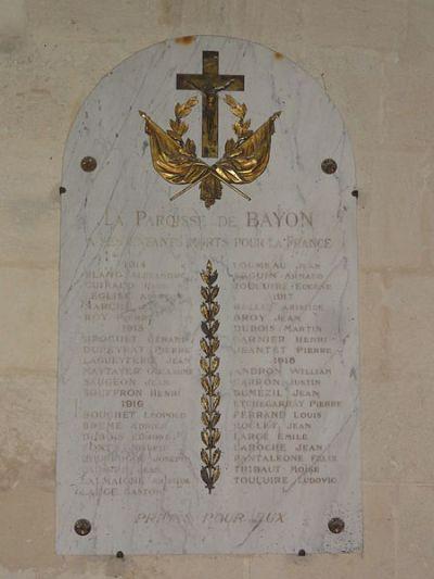 Plaques Église Bayon-sur-Gironde