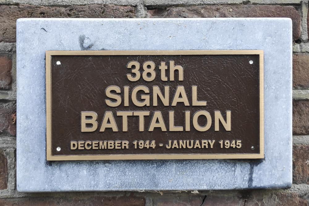 Plaque 38th Signal Battalion
