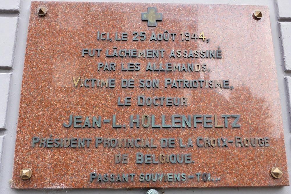 Gedenkplaat voor J-L. Hollenfeltz