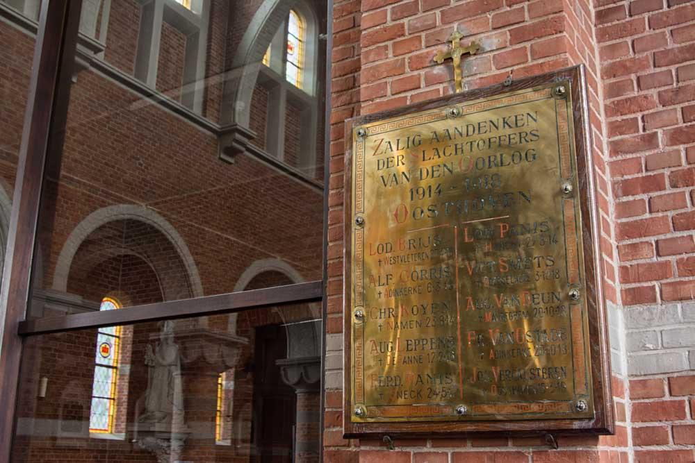 Memorial Plaque Fallen Saint Anthony Parish Oosthoven